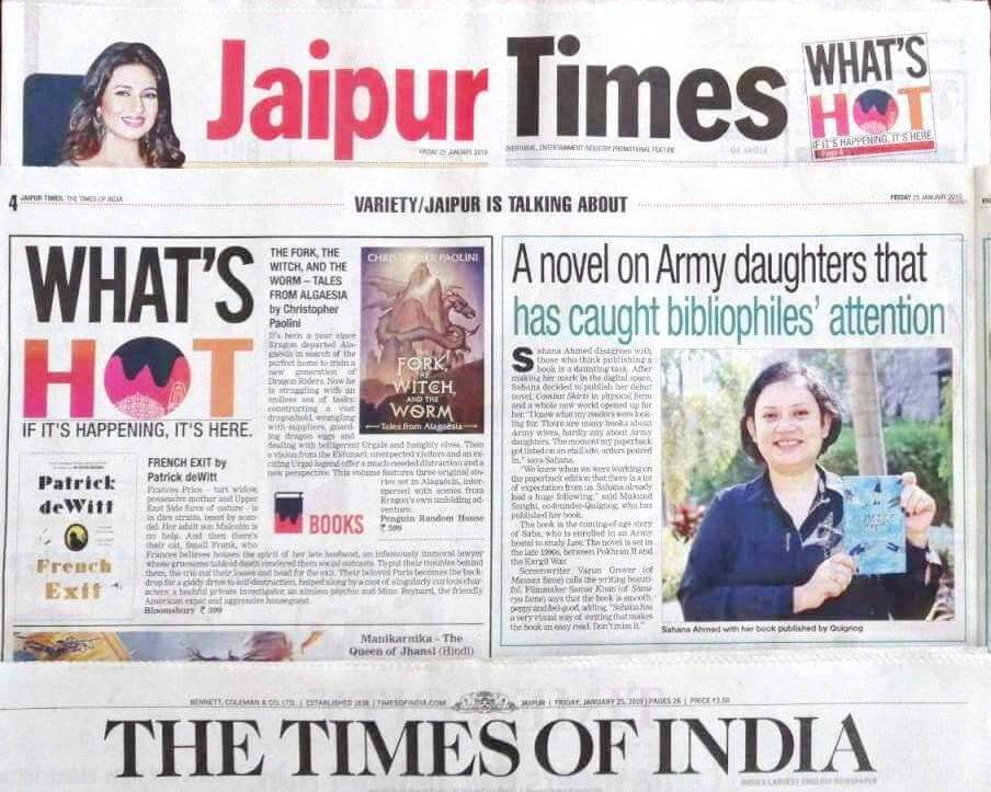 A novel on Army daughters that has caught bibliophiles' attention